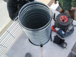 Chemisage tubage doublage conduit hotte de cuisine professionnelle hygis - Conduit hotte aspirante ...